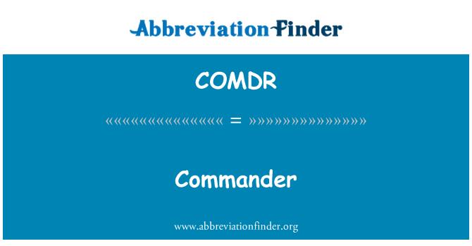 COMDR: Commander