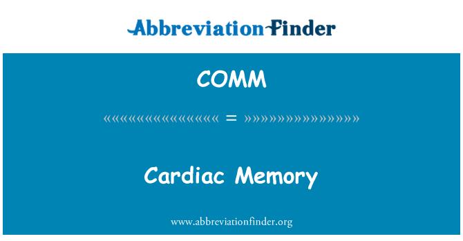 COMM: Memori jantung