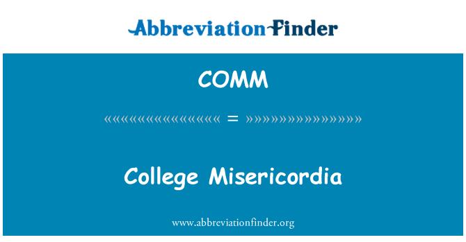 COMM: Kolej Misericordia