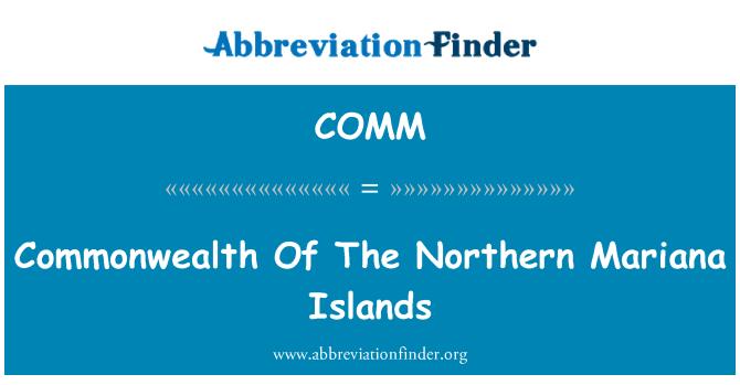 COMM: Komanwel di Kepulauan Mariana Utara