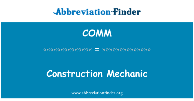 COMM: Pembinaan mekanik
