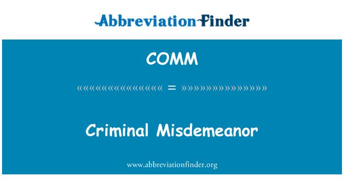 COMM: Pelanggaran tabrak jenayah