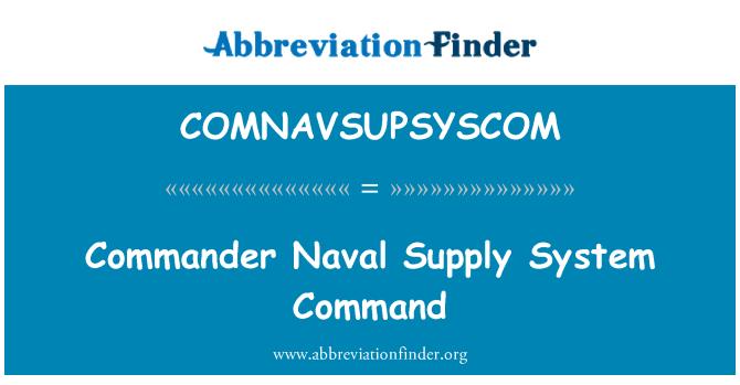 COMNAVSUPSYSCOM: Commander Naval Supply System Command
