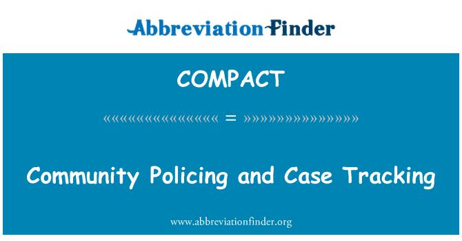 COMPACT: جامعه پلیس و قضایا