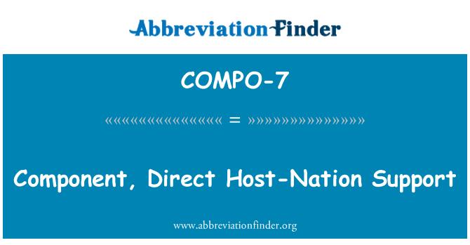 COMPO-7: Apoyo directo, componente de un país anfitrión