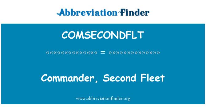 COMSECONDFLT: Commander, Second Fleet