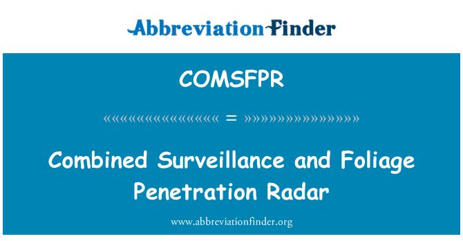 COMSFPR: Combined Surveillance and Foliage Penetration Radar