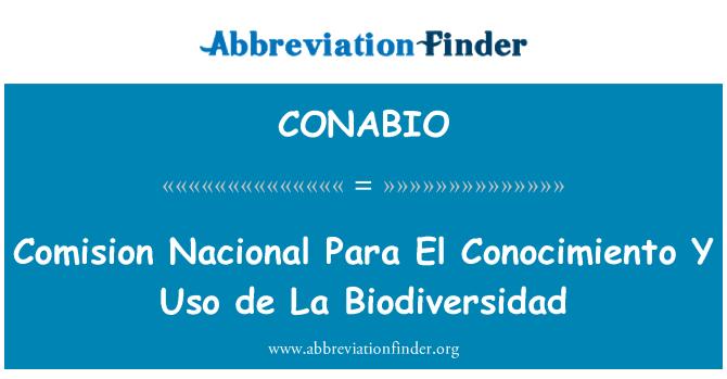 CONABIO: Comision Nacional Para El Conocimiento Y Uso de La Biodiversidad