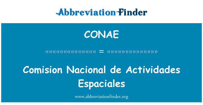 CONAE: Comision Nacional de Actividades Espaciales