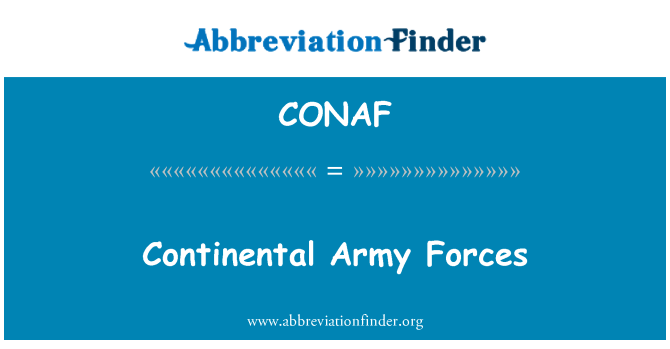 CONAF: Continental Army Forces
