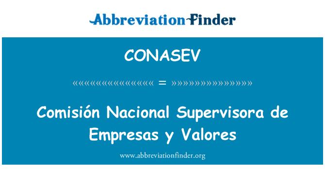 CONASEV: Comisión Nacional Supervisora de Empresas y Valores
