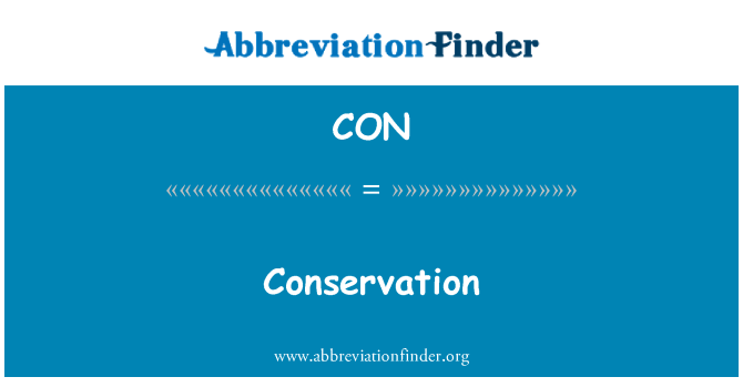 CON: Conservation
