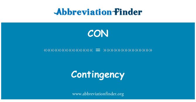 CON: Contingency