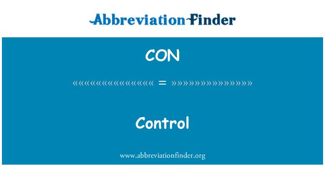 CON: Control