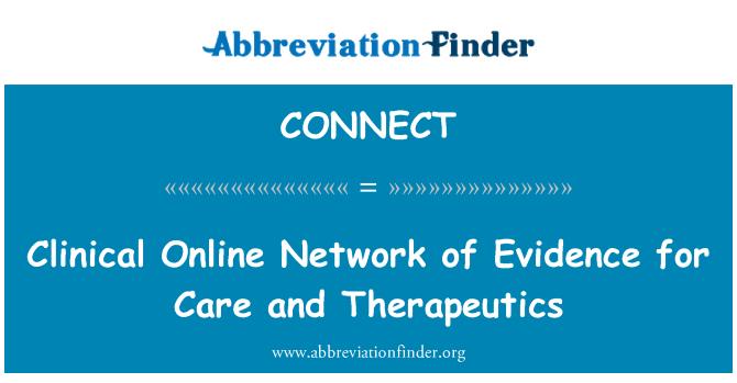 CONNECT: Κλινική σε απευθείας σύνδεση δικτύου των αποδεικτικών στοιχείων για την φροντίδα και θεραπευτική