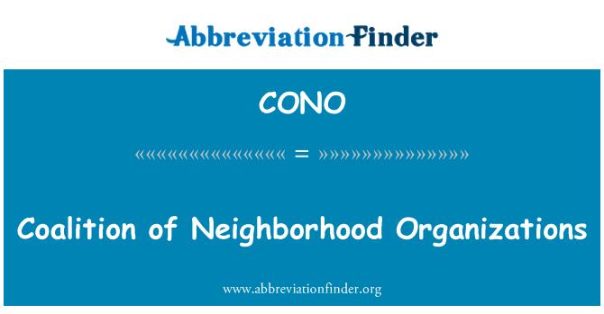 CONO: Coalition of Neighborhood Organizations