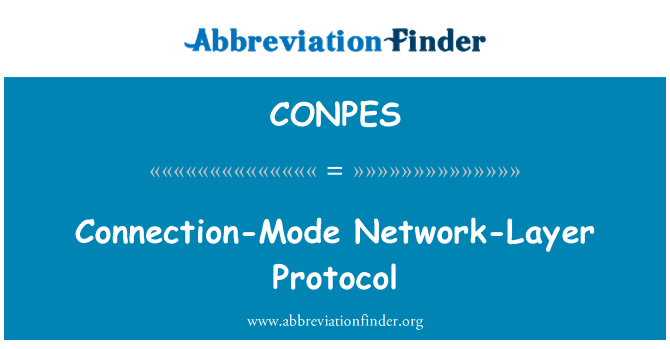 CONPES: Connection-Mode Network-Layer Protocol