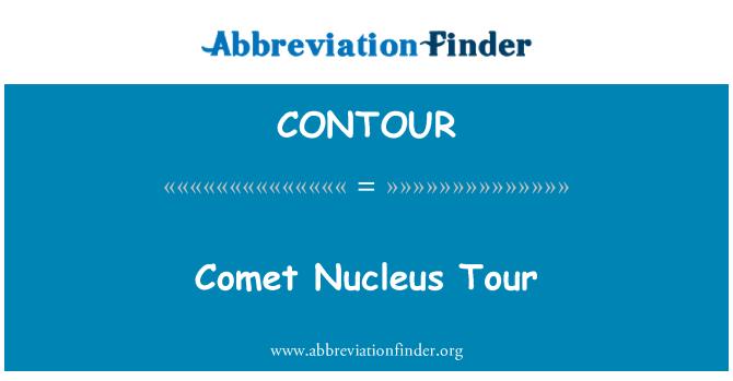 CONTOUR: Tour de núcleo de cometa