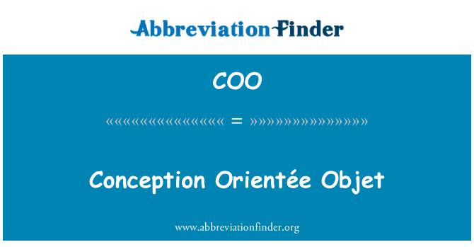COO: Conception Orientée Objet