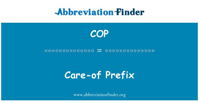 COP: Care-of Prefix