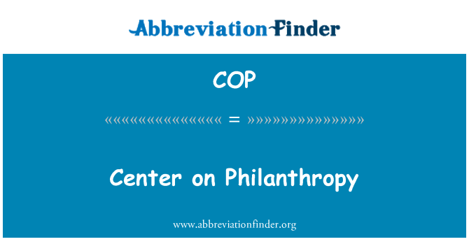 COP: Center on Philanthropy