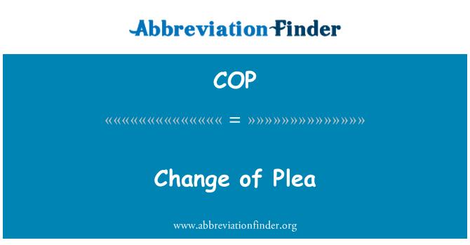 COP: Change of Plea