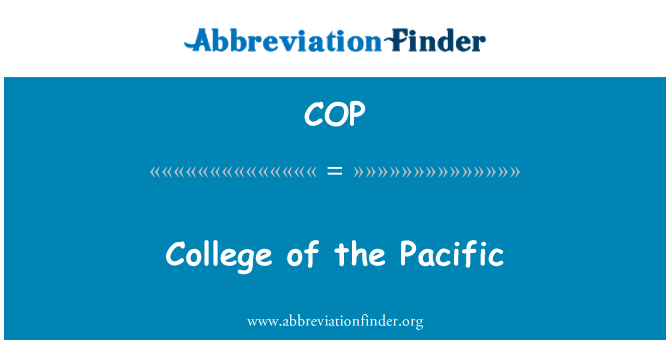 COP: College of the Pacific