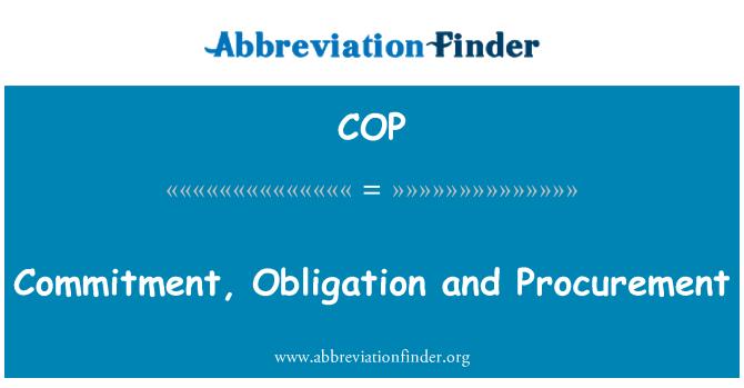 COP: Commitment, Obligation and Procurement