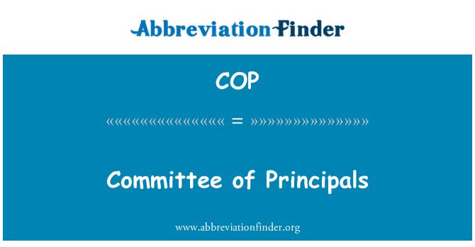 COP: Committee of Principals