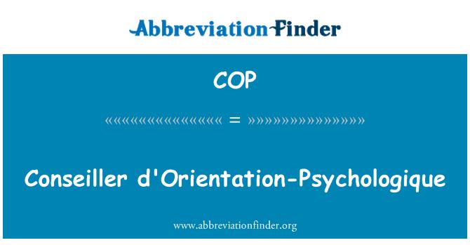 COP: Conseiller d'Orientation-Psychologique