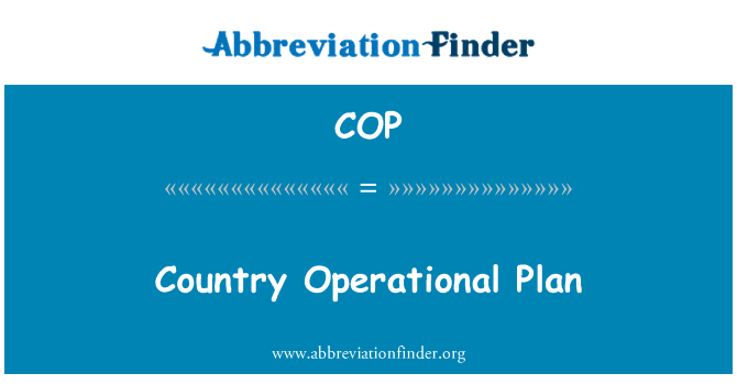 COP: Country Operational Plan