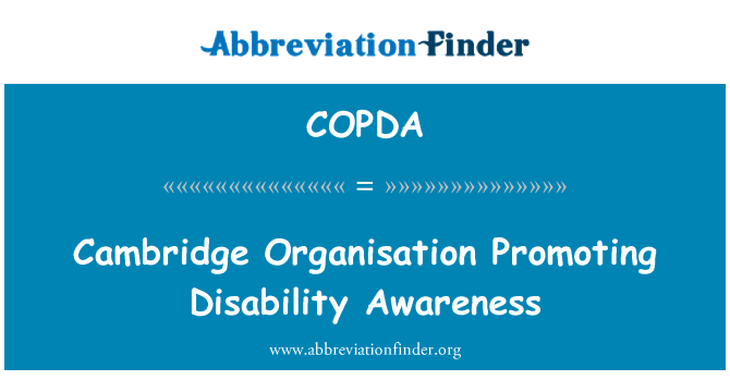 COPDA: Cambridge Organisation Promoting Disability Awareness
