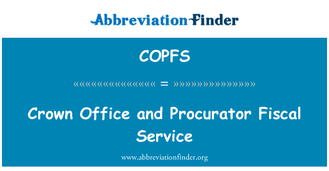 COPFS: Crown Office and Procurator Fiscal Service
