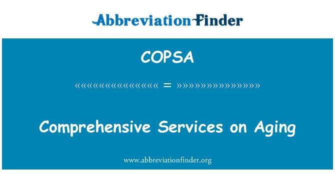 COPSA: Comprehensive Services on Aging