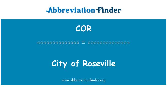 COR: City of Roseville