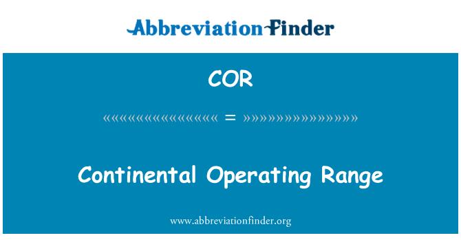 COR: Continental Operating Range