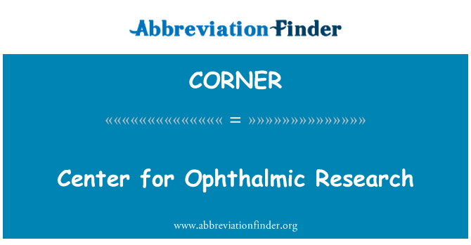 CORNER: Pusat Penyelidikan Ophthalmic