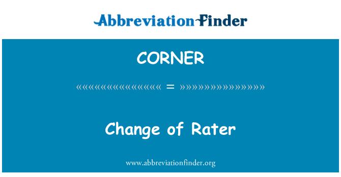 CORNER: تغيير التصنيفات