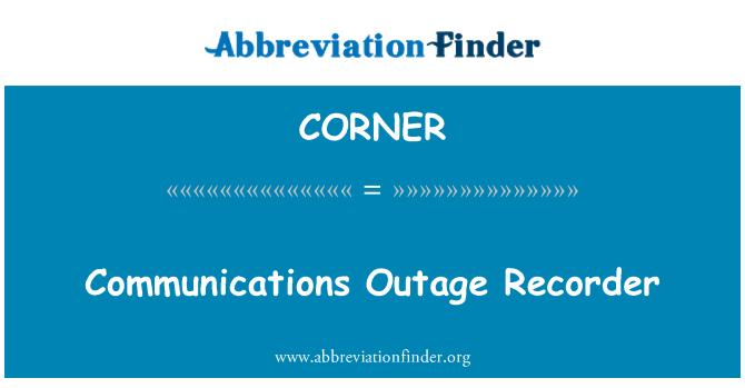 CORNER: Perakam gangguan komunikasi