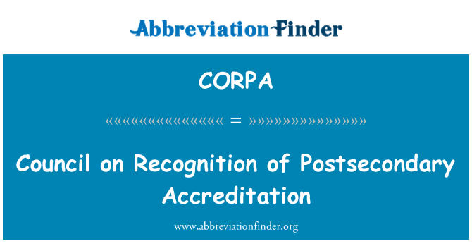 CORPA: Tunnustamise keskeriharidus akrediteerimise nõukogu