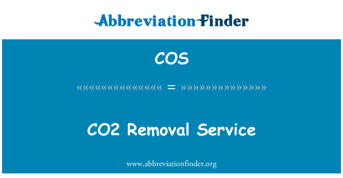 COS: CO2 Removal Service