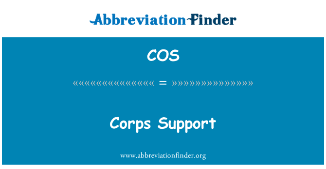 COS: Corps Support
