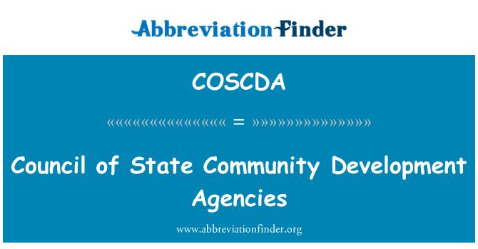COSCDA: Council of State Community Development Agencies