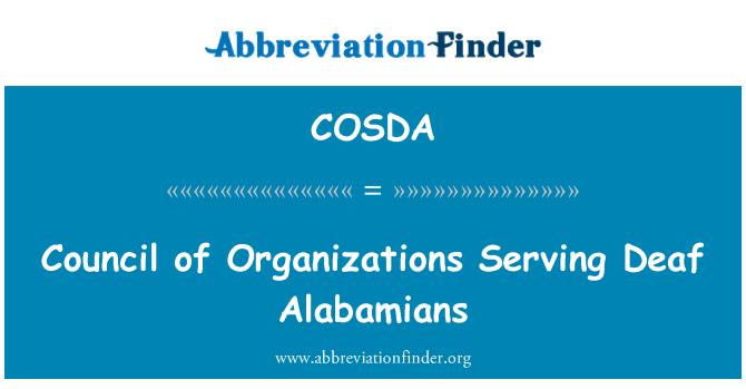 COSDA: Council of Organizations Serving Deaf Alabamians