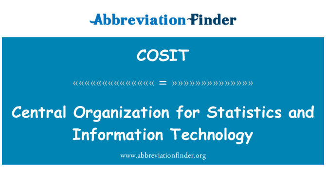 COSIT: Central Organization for Statistics and Information Technology