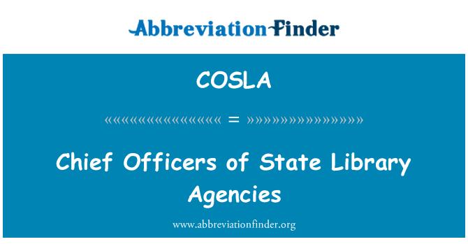COSLA: Şef Subaylar Devlet Kütüphanesi ajansları