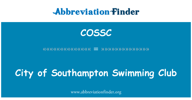 COSSC: City of Southampton Swimming Club