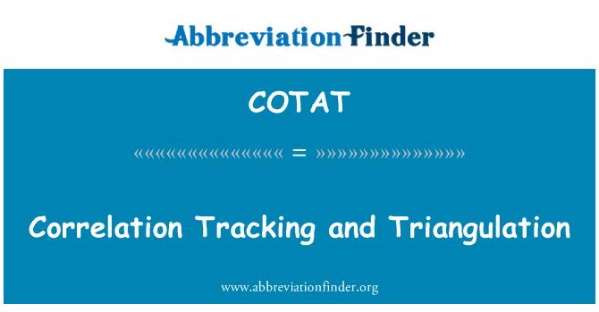COTAT: Correlation Tracking and Triangulation