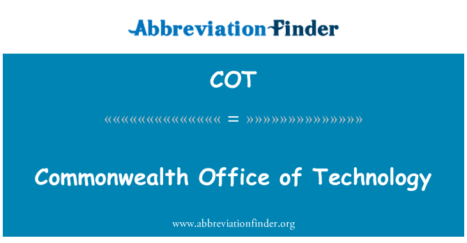 COT: Commonwealth Office of Technology