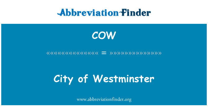 COW: City of Westminster